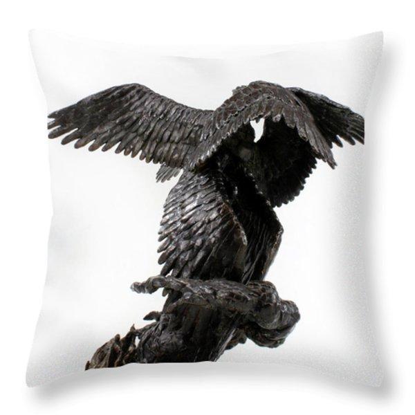 Seraph Angel a religious bronze sculpture by Adam Long Throw Pillow by Adam Long