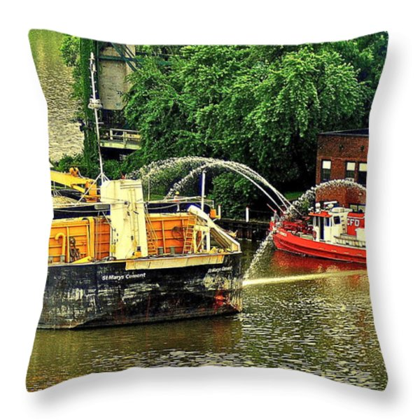 Ship Shape Throw Pillow by Frozen in Time Fine Art Photography