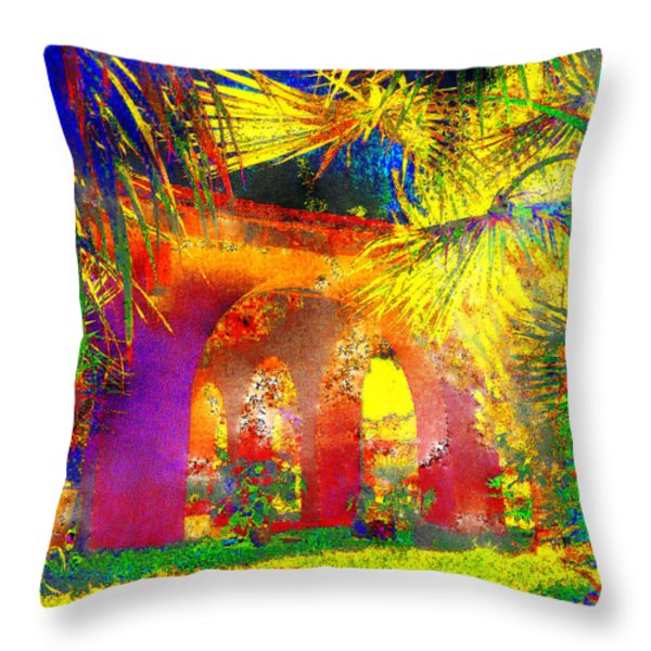 Simi Arches Throw Pillow by Chuck Staley