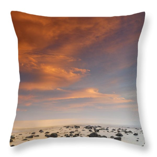 Small stones islands Throw Pillow by Guido Montanes Castillo