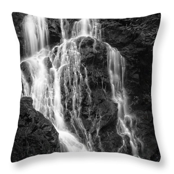 Smokey Waterfall Throw Pillow by Jon Glaser
