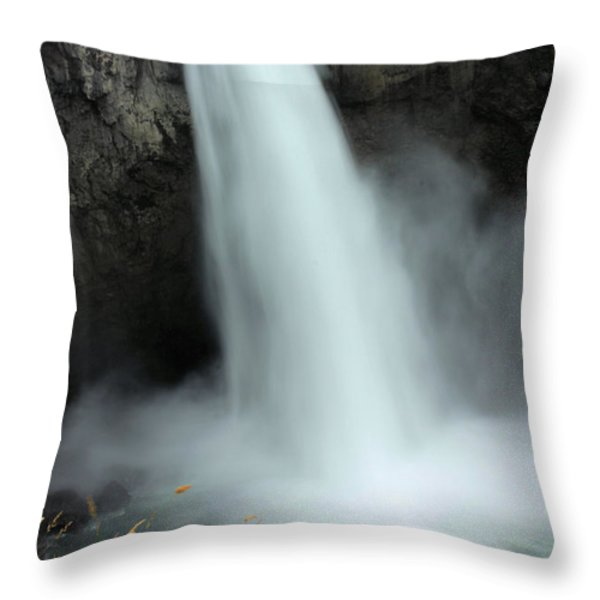 Snoqualmie Falls Throw Pillow by Kristin Elmquist