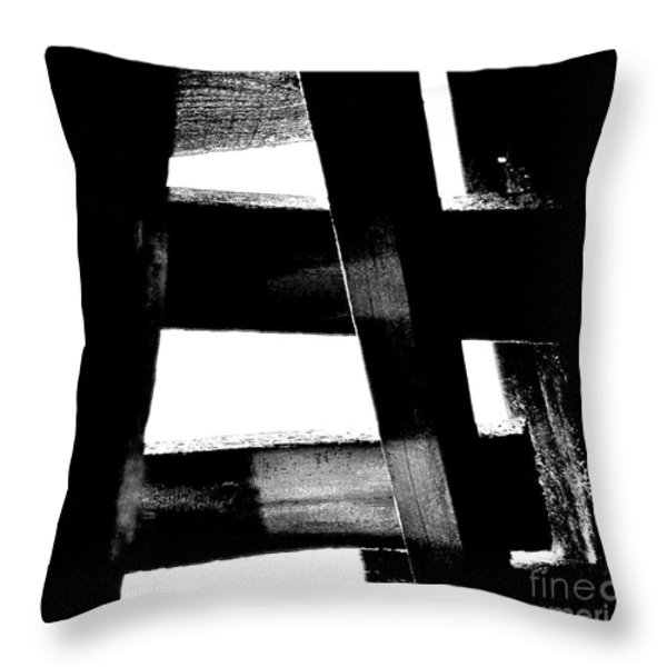 Soundly Grounded Throw Pillow by Lauren Hunter