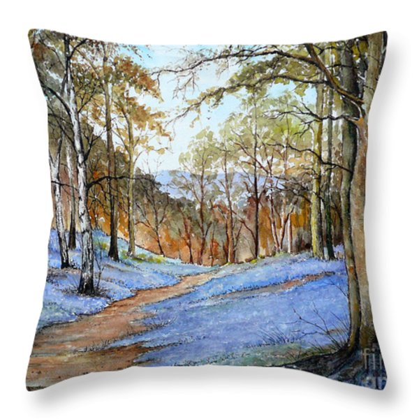 Spring in Wentwood Throw Pillow by Andrew Read