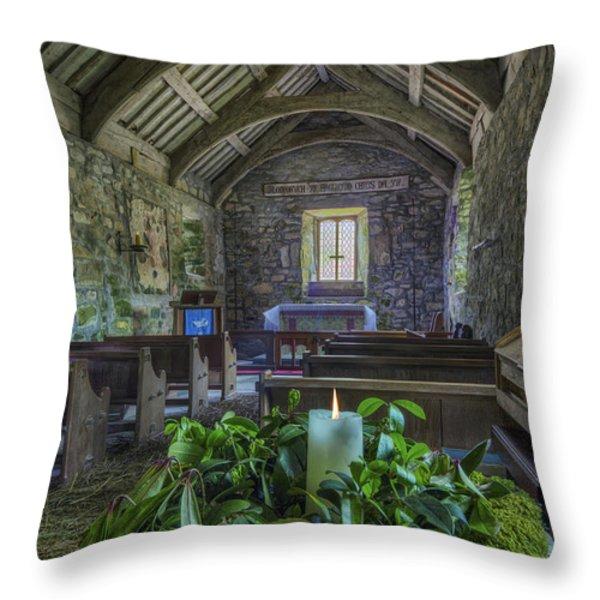 St Beunos Church Throw Pillow by Ian Mitchell