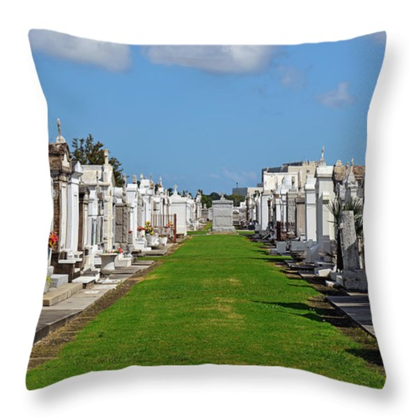 St Louis Cemetery No 3 New Orleans Throw Pillow by Christine Till