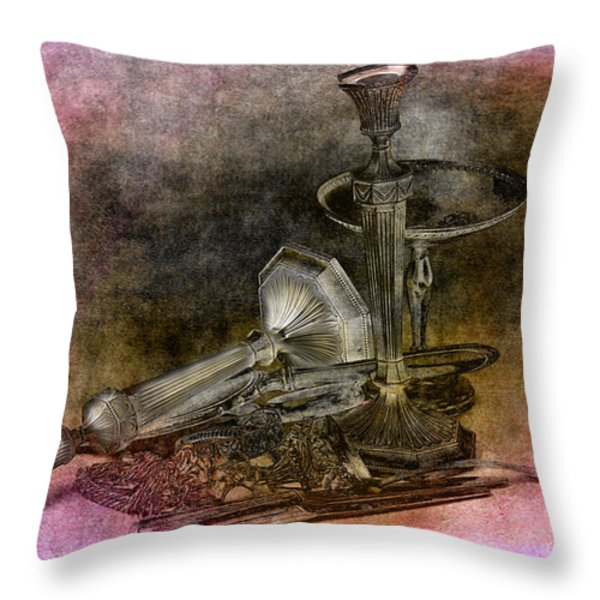 Sterling Silver Scrap Throw Pillow by Gunter Nezhoda