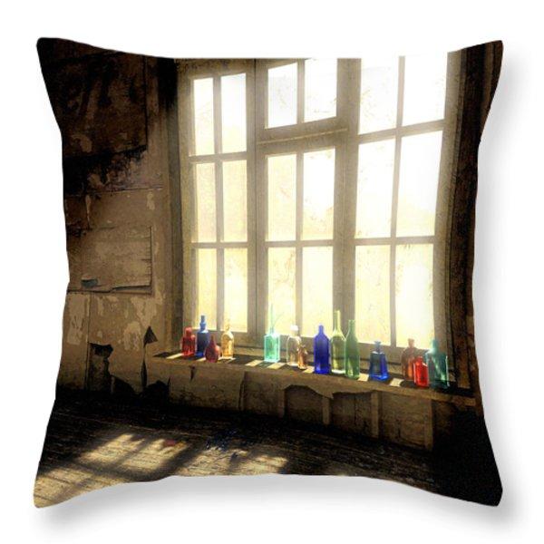 Sun Patch Throw Pillow by Cynthia Decker