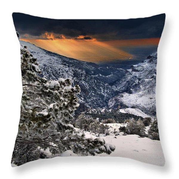 Sun Rays Throw Pillow by Guido Montanes Castillo