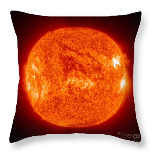 Sun Throw Pillow by Science Source