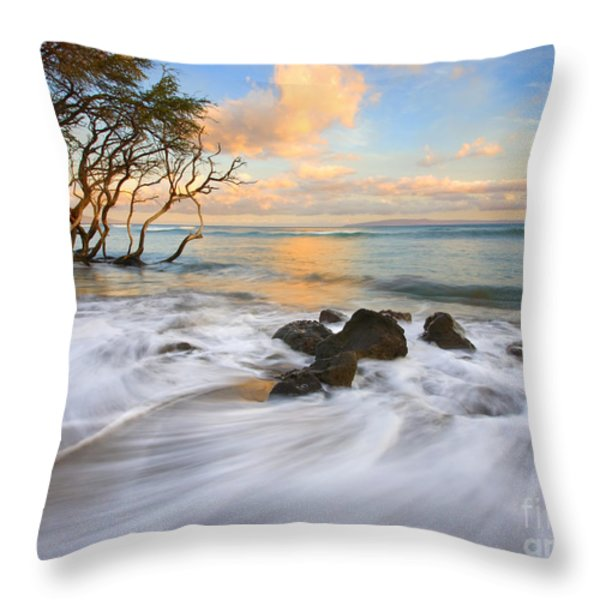 Sunset Tides Throw Pillow by Mike  Dawson