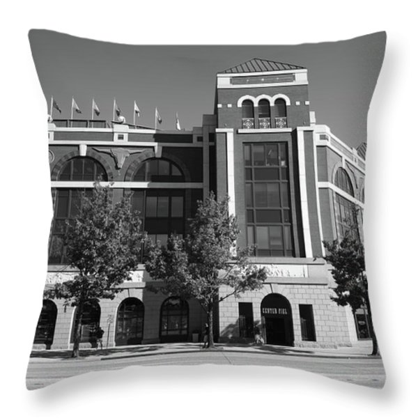 Texas Rangers Ballpark in Arlington Throw Pillow by Frank Romeo
