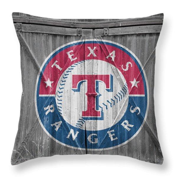 TEXAS RANGERS Throw Pillow by Joe Hamilton