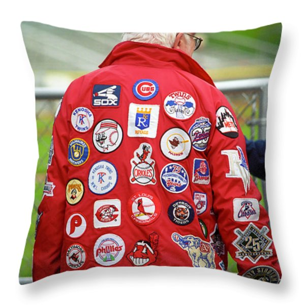 The Baseball Fan Throw Pillow by Frank Romeo