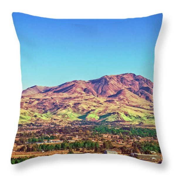 The Butte Throw Pillow by Robert Bales
