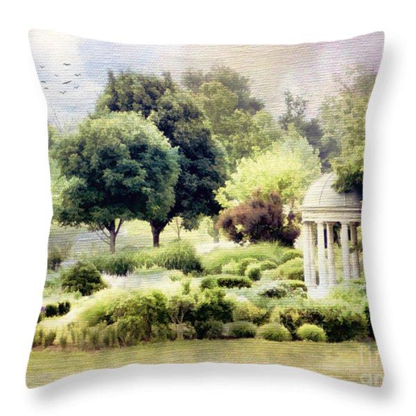 The Flower Garden Throw Pillow by Darren Fisher