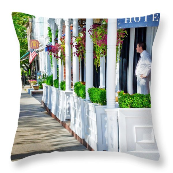 The Waiter Throw Pillow by Keith Armstrong