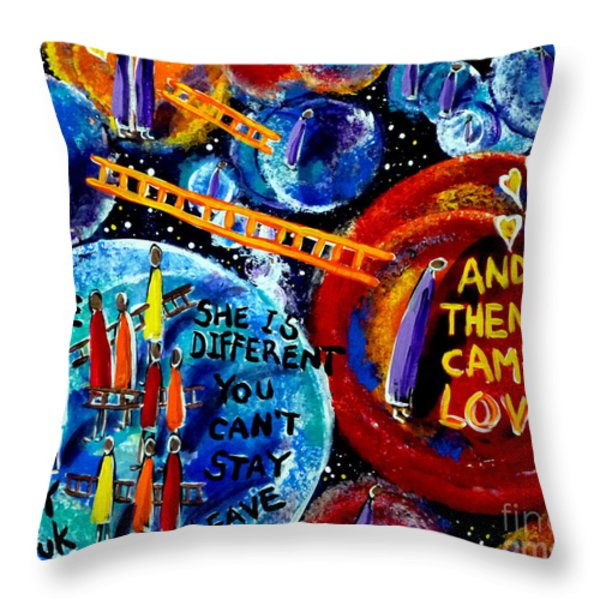 Then Came Love Throw Pillow by Jackie Carpenter