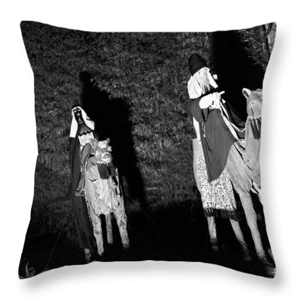 Three Wise Men Throw Pillow by Gaspar Avila