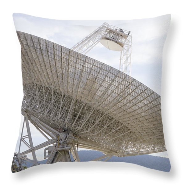 Tidbinbilla Deep Space Station Throw Pillow by Steven Ralser