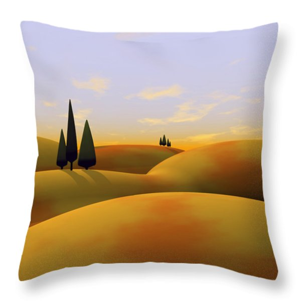 Toscana 3 Throw Pillow by Cynthia Decker
