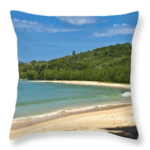 Tropical Paradise Throw Pillow by Georgia Fowler