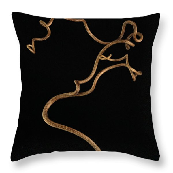 Twisty Nature Throw Pillow by Claudio Bacinello
