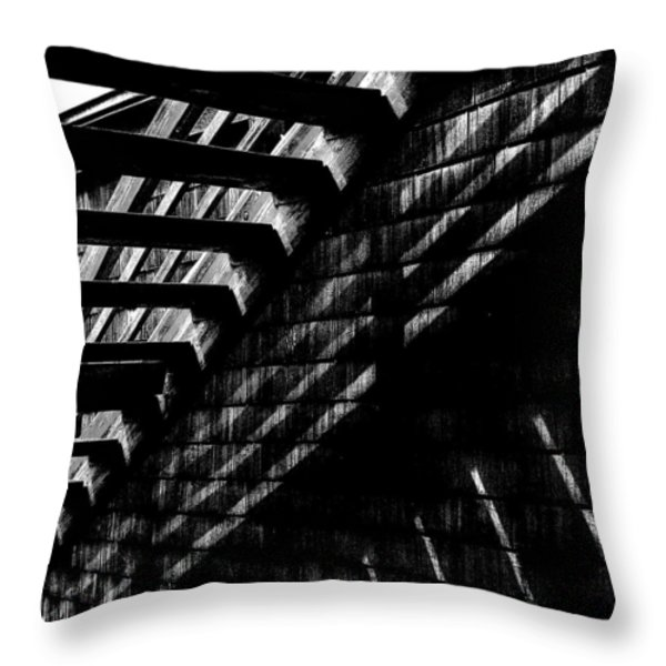 Under the Stairs Throw Pillow by David Patterson