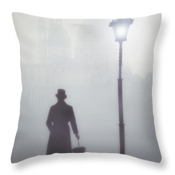 victorian man Throw Pillow by Joana Kruse
