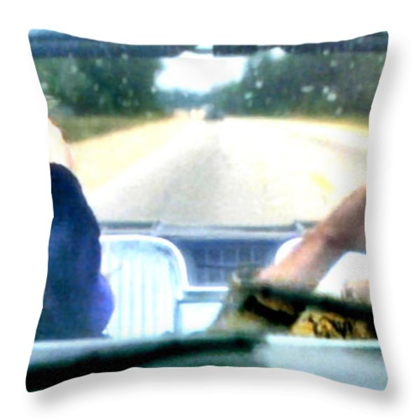 Wild At Heart Throw Pillow by Luis Ludzska