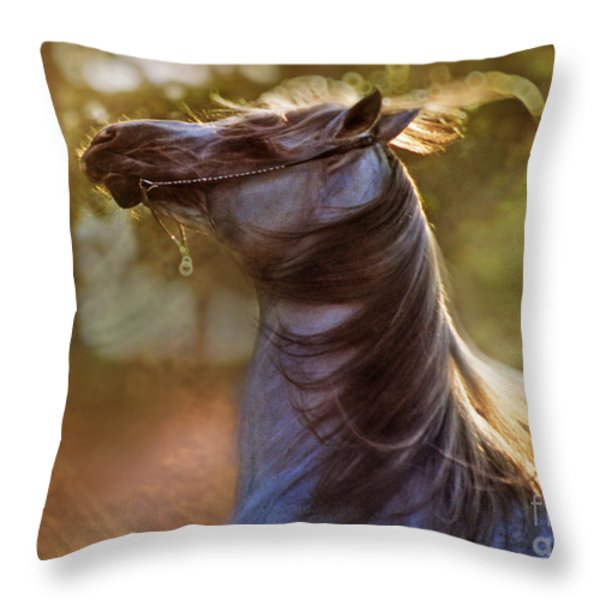 Wild Heart Throw Pillow by Angel  Tarantella