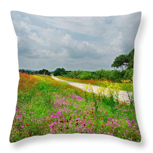 Wildflower Wonderland Throw Pillow by Lynn Bauer