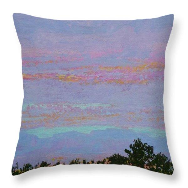Winter Sunset Throw Pillow by Gail Kent