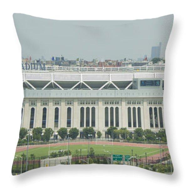 Yankee Stadium Throw Pillow by Theodore Jones