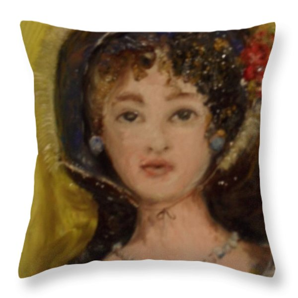Yesterday Throw Pillow by Laurie D Lundquist