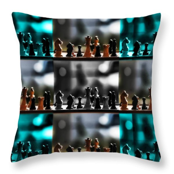 Your Move Throw Pillow by Camille Lopez