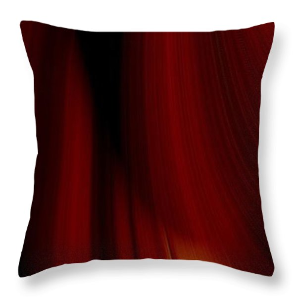 Abstract Art Throw Pillow by Heike Hultsch