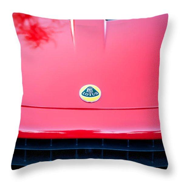 2006 Lotus Grille Emblem -0012c Throw Pillow by Jill Reger