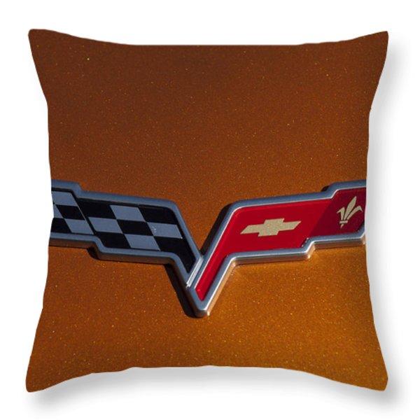 2007 Chevrolet Corvette Indy Pace Car Emblem Throw Pillow by Jill Reger