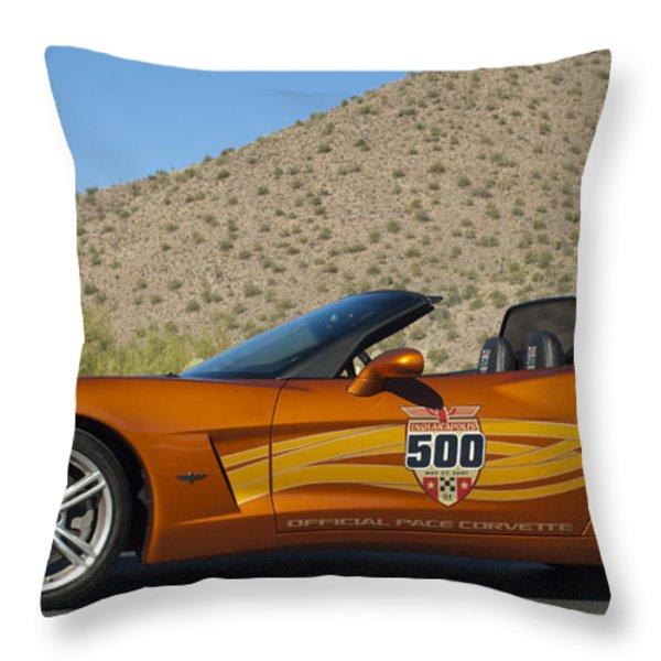 2007 Chevrolet Corvette Indy Pace Car Throw Pillow by Jill Reger