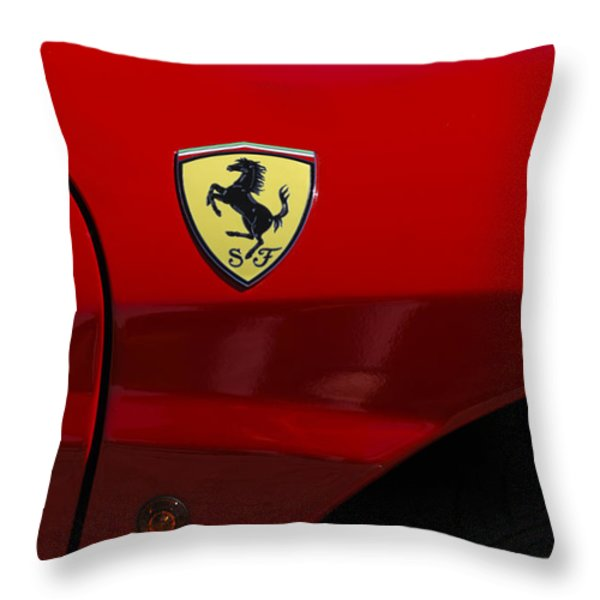 2007 Ferrari F430 Spider F1 Throw Pillow by Jill Reger