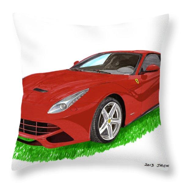 2012 F12 Ferrari Berlinetta Gt Throw Pillow by Jack Pumphrey