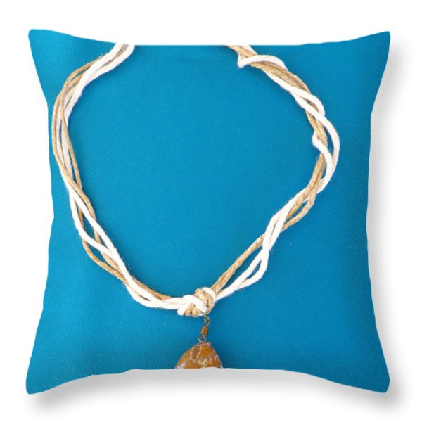 Aphrodite Urania Necklace Throw Pillow by Augusta Stylianou
