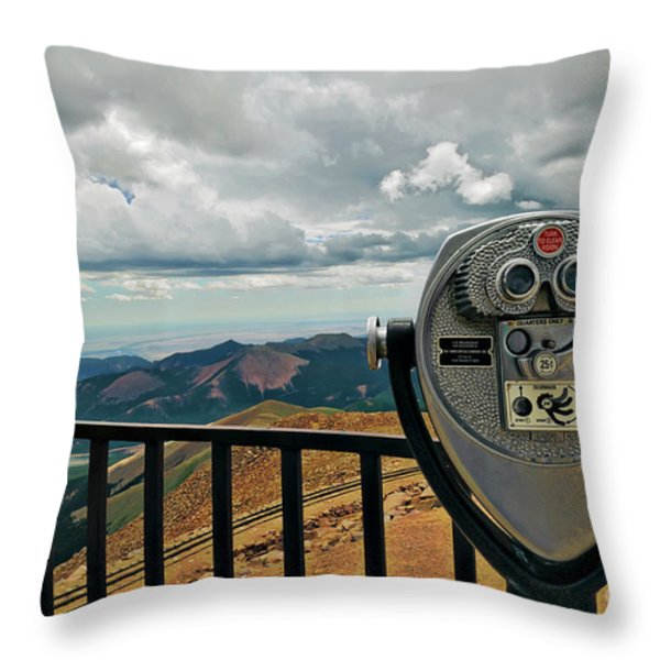 25 Cent Views Throw Pillow by Charles Dobbs