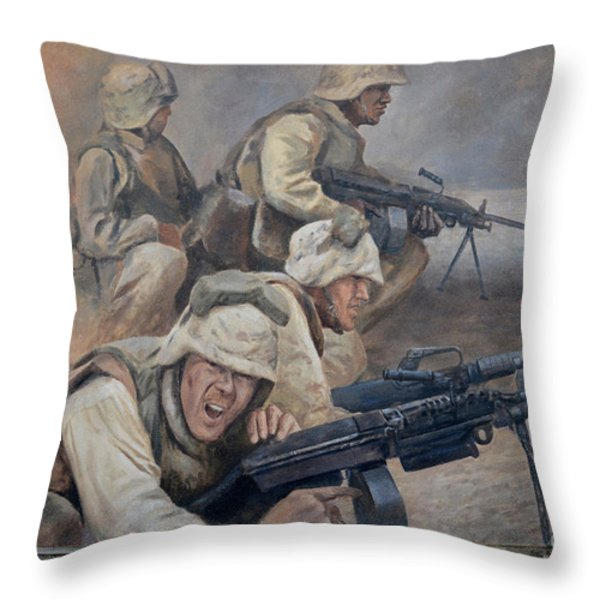 29 Palms Mural 1 Throw Pillow by Bob Christopher