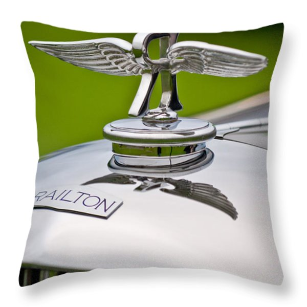 1937 Railton Rippon Brothers Special Limousine Hood Ornament Throw Pillow by Jill Reger