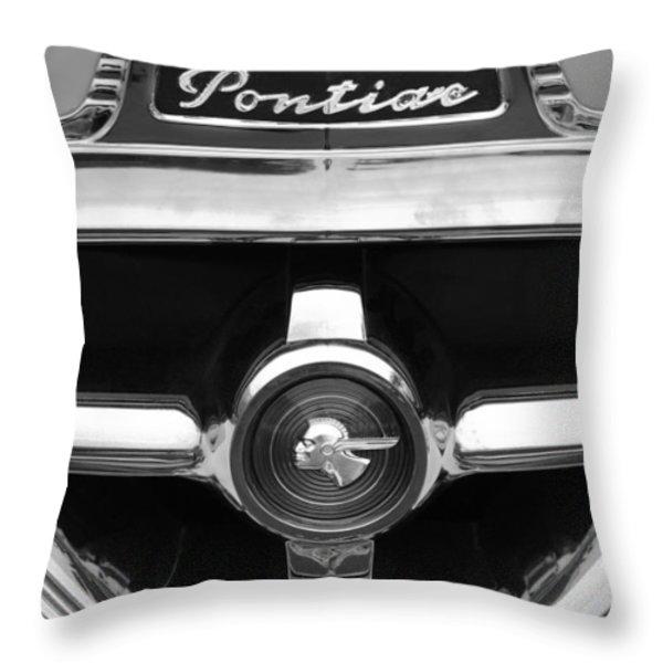 1951 Pontiac Streamliner Grille Emblem Throw Pillow by Jill Reger