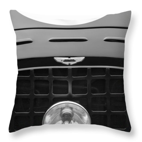 1952 Aston Martin Db3 Sports Hood Emblem Throw Pillow by Jill Reger
