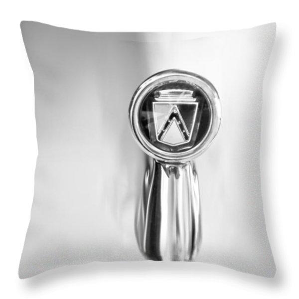 1963 Ford Falcon Futura Convertible  Hood Ornament Throw Pillow by Jill Reger