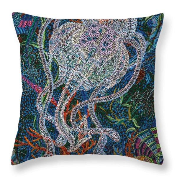 Aquatic Apparition  Throw Pillow by Erika P Johnson